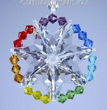 m/w SWAROVSKI CRYSTAL Suncatcher Lilli Heart Designs STAR OF LIFE CHAKRA MANDALA