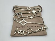 David Yurman Quatrefoil 2.7mm Chain Necklace 36 inch Sterling Silver 925