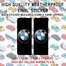 2 BMW Logo Number Plate Vinyl Sticker Stick On 1 2 3 4 5 6 7 X M i Z Series N051
