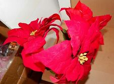 "Ashland Fall Hollween & Christmas Decor Stems Red Velvet Flowers 3ea 27""x 8"" 73B"