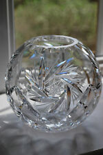 Bohemia Crystal Sphere Shaped Cut Glass Vase - Ball shaped - Excellent  #152