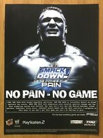 WWE SmackDown Here Comes the Pain PS2 2003 Print Ad/Poster Brock Lessner WWF WCW