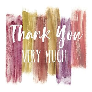 Thank You Greeting Card Sold To Support Royal Trinity Hospice Charity Brand New