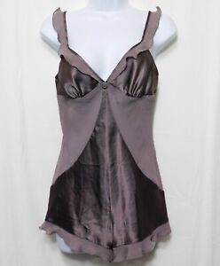 Victorias Secret Teddie S Soft Brown Satin and Chiffon Teddy New without Tags