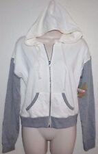 Dream Out Loud Selena Gomez Wht/Gray PREP RALLY Light Sweatshirt Hoodie Jacket L