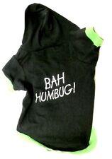 Pet Costume Christmas Bah Humbug Dog T Shirt XS-S Hood Holiday Black Used