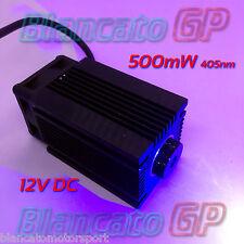 MODULO LASER 12V 405nm BLU VIOLA 500mW INCISIONE diode module focusable engravin