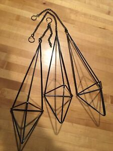 Hanging Brass Air Plant Holder 3 Pieces