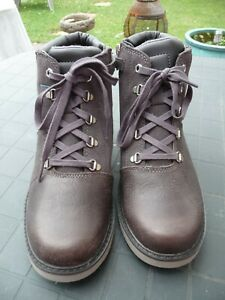 Womens / Boys Timberland Dark Brown Suede Boots Mid Ankle Size UK 5 EUR 38