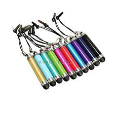 10x 3.5mm Aluminum Retractable Stylus Touch Screen Pen Anti-Dust Plug for iPhone
