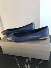 New AUTH Alexander McQueen Midnight Blue Skull Slip On Flats EU SZ 39 $895