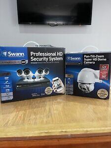 Swann Cctv Bundle Platinum Professional HD 3mp/8ch/2TB Storage &  PTZ Dome Cam.