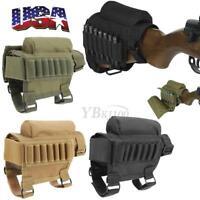 3 Colors Tactical Rifle Buttstock Cheek Rest Riser Cartridges Carrier Case Holde