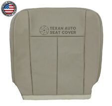 2007 2008 Ford Expedition XLT Driver Bottom Perforated Leather Seat Cover Gray