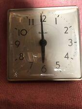 "Vintage Simplex Wall Slave Clock 16""x16"" Metal/ Glass"