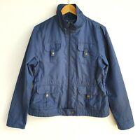 Harry's Horse Womens Soft Shell Equestrian Jacket sz L Navy Blue Lightweight