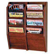 Wooden Mallet Cascade 8 Pocket Magazine Rack Mahogany MR24-8MH NEW