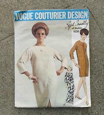 Original  1960s  Vogue Couturier Original Pattern Dress by Sybil Connolly 34