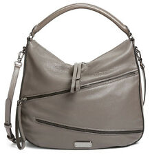 NWT MARC BY MARC JACOBS Serpentine Leather Hobo Crossbody Bag Faded Aluminum NEW