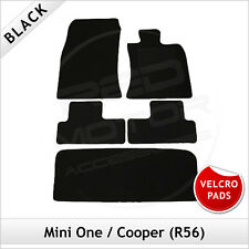 Mini One / Cooper Mk2 R56 2006-2013 Velcro Pads Tailored Car & Boot Mats BLANK