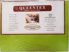 QUEENTEX Luxurious Poly Cotton Double Bed Valance Bedskirt Lime Green Bed Skirt