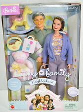 Mattel BARBIE HAPPY FAMILY NEIGHBORHOOD Baby's 1st Birthday GRANDMA DOLL New NIB