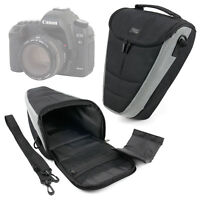 Hard Black Bag For Canon EOS 5D Mark IV & 6D SLR Camera WITH Padded Neck Strap