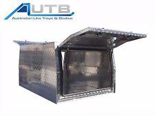 Aluminium Ute Canopy - 1200mm L x 1770mm W 2 Door 2.5mm Checkerplate