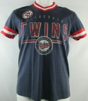 Minnesota Twins G-III Vintage Men's Short Sleeve Navy Blue V-Neck T-Shirt
