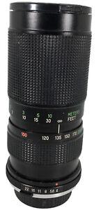 Vivitar Auto Zoom Lens 100 200mm f4 Close Focusing MANUAL focus for Olympus OM10