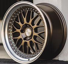 "17"" ESR SR01 Bronze Wheels For Civic Accord 240SX 5x114.3 17X8.5 +30 Rims Set 4"