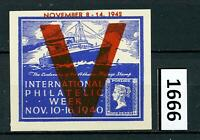 Dealer Dave Cinderella Stamps INTERNATIONAL PHILATELIC WEEK 1942 OVERPRINT(1666)