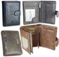 Herren Geldbörse günstig Geldbeutel Portemonnaie mit Riegel in 4 Farben Qualität
