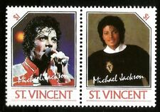 MICHAEL JACKSON KING OF POP MINT $1.00 STAMPS MUSIC LEGEND OF THE WORLD