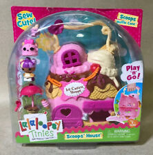 Lalaloopsy Tinies Scoops Waffle Cone's House 7pc Set - New!!