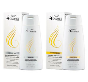 LONG 4 LASHES ANTI HAIR LOSS STRENGHTENING SHAMPOO + CONDITIONER SET 2X 200ML