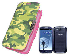 HOUSSE DE COUVERTURE COMPATIBLE X SAMSUNG GALAXY S3 SIII I9300 CAMOUFLAGE ROSE