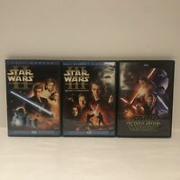 Star Wars Saga Lot Episodes 2, 3, & 7 - Complete CIB Tested and Pristine