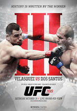 UFC 166 Velasquez vs dos Santos III (Houston 10/19/2013) Official Event POSTER