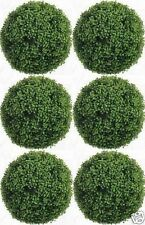 "6 ARTIFICIAL BOXWOOD 10"" BALL IN OUTDOOR TOPIARY PLANT BUSH TREE EVERGREEN FAKE"