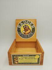 Vintage Badger Healing Balm Advertising Crate-Box Original Labels