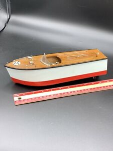 Vintage  Japan Toy ~ Fleet Line Battery Operated Toy WOOD Boat Model