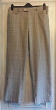 Mens 36L Stromberg Trousers Golf Grey Prince of Wales Check Teflon Coated