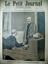 AFFAIRE DREYFUS Gal DE PELLIEUX Cdt ESTERHAZY PROCES VAUX LE PETIT JOURNAL 1897