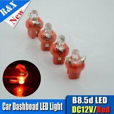 4 X LED T5 B8.5D 2721 286 RED AUTO INTERIOR DOME Dashborard 12V LIGHT BULB/LAMP