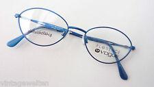 Knallig blaue Brillenfassung Vogue Metall klein mandelförmig Gestell frame sizeS