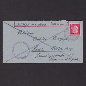 UKRAINE GERMAN OCCUPATION 1943, Cover