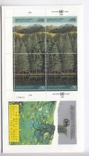 TIMBRE STAMP FDC COVER NATIONS UNIES GENEVE Y&T#165-66 x 2 ARBRE FORET 1988 ~B74