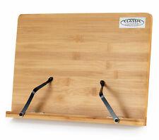 Leggio Spartiti da Tavolo in Legno Bambù Supporto Libri Tablet Notebook Musicale