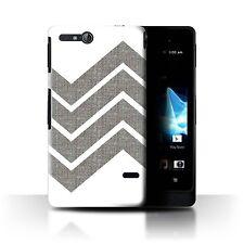 STUFF4 Case/Cover for Sony Xperia Go/ST27i/Winter Fashion/Grey Zig Zag